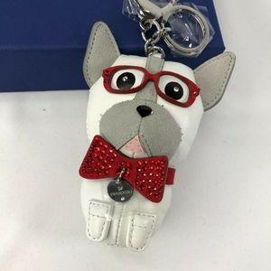 Swarovski Bruno The French Bulldog Dog Bag Charm